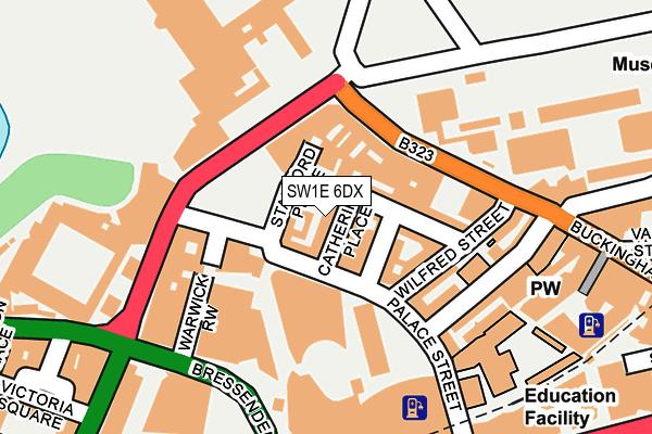 SW1E 6DX map - OS OpenMap – Local (Ordnance Survey)