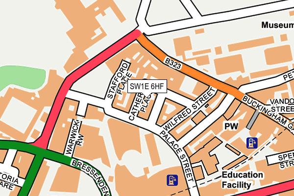 SW1E 6HF map - OS OpenMap – Local (Ordnance Survey)