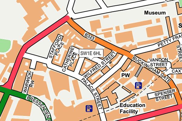 SW1E 6HL map - OS OpenMap – Local (Ordnance Survey)
