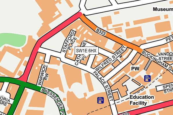 SW1E 6HX map - OS OpenMap – Local (Ordnance Survey)