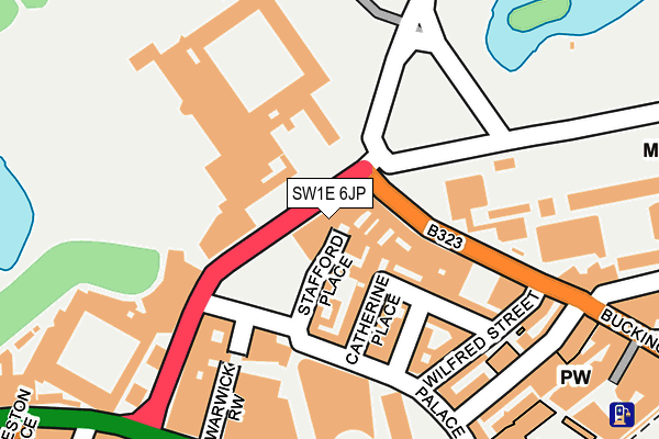 SW1E 6JP map - OS OpenMap – Local (Ordnance Survey)