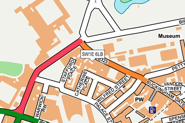 SW1E 6LB map - OS OpenMap – Local (Ordnance Survey)