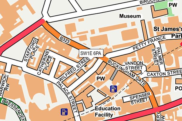 SW1E 6PA map - OS OpenMap – Local (Ordnance Survey)