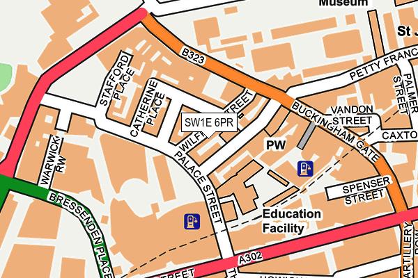 SW1E 6PR map - OS OpenMap – Local (Ordnance Survey)