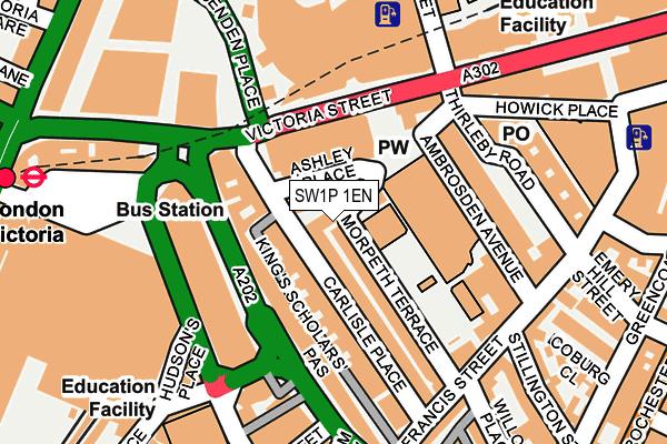 SW1P 1EN map - OS OpenMap – Local (Ordnance Survey)