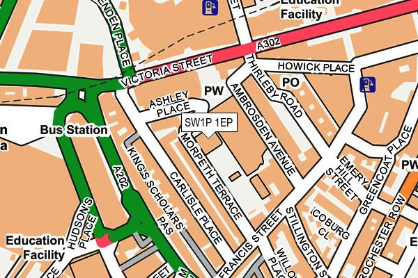 SW1P 1EP map - OS OpenMap – Local (Ordnance Survey)