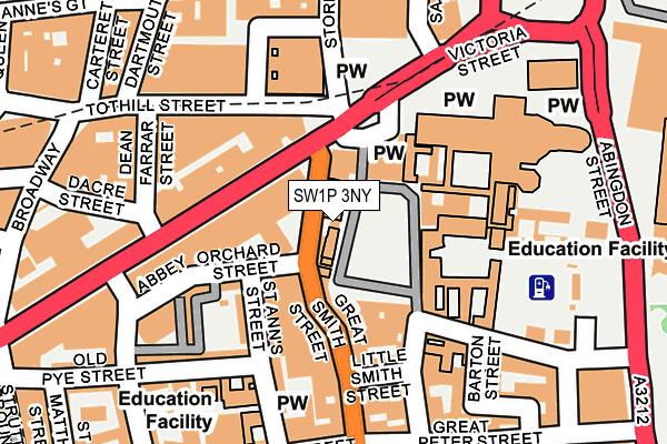 SW1P 3NY map - OS OpenMap – Local (Ordnance Survey)