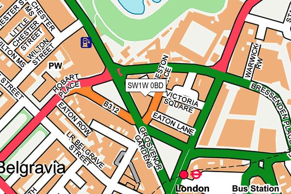 SW1W 0BD map - OS OpenMap – Local (Ordnance Survey)