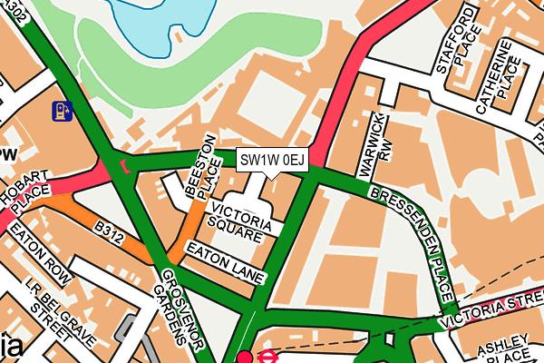 SW1W 0EJ map - OS OpenMap – Local (Ordnance Survey)