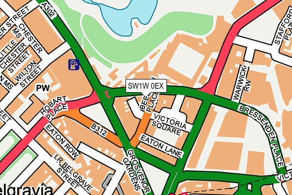 SW1W 0EX map - OS OpenMap – Local (Ordnance Survey)