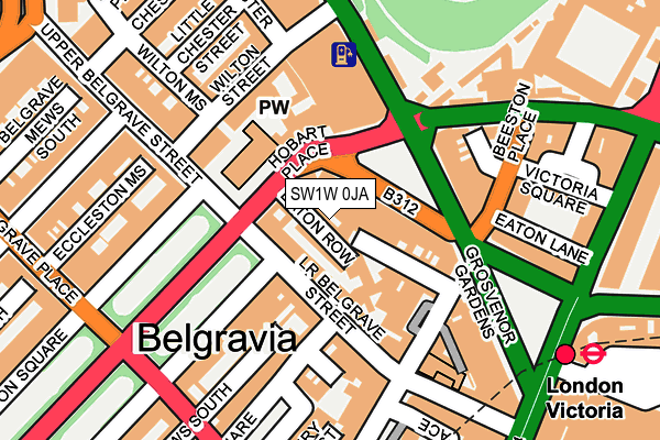SW1W 0JA map - OS OpenMap – Local (Ordnance Survey)