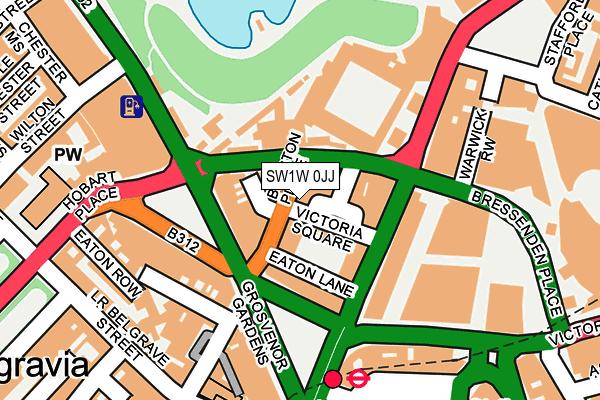 SW1W 0JJ map - OS OpenMap – Local (Ordnance Survey)