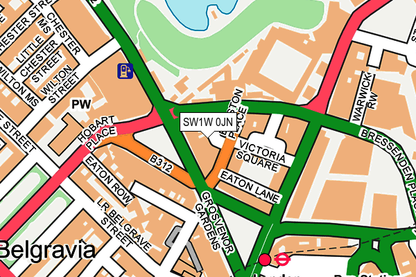 SW1W 0JN map - OS OpenMap – Local (Ordnance Survey)