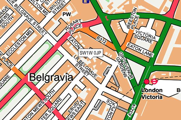 SW1W 0JP map - OS OpenMap – Local (Ordnance Survey)
