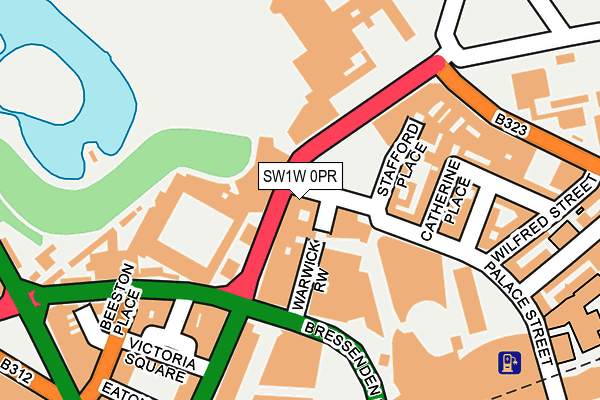 SW1W 0PR map - OS OpenMap – Local (Ordnance Survey)