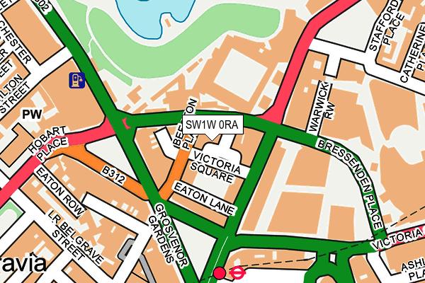 SW1W 0RA map - OS OpenMap – Local (Ordnance Survey)