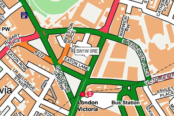 SW1W 0RE map - OS OpenMap – Local (Ordnance Survey)