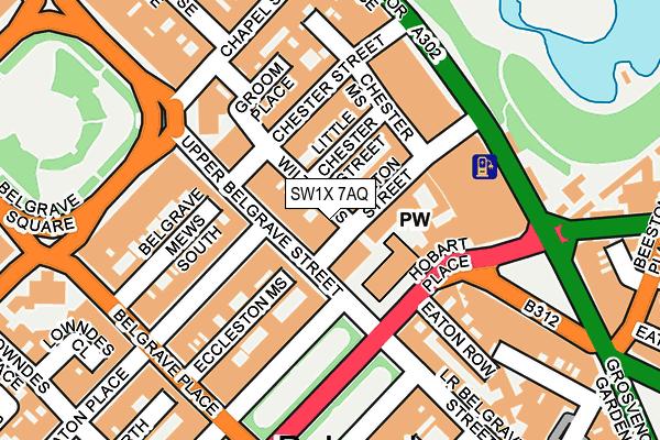 SW1X 7AQ map - OS OpenMap – Local (Ordnance Survey)