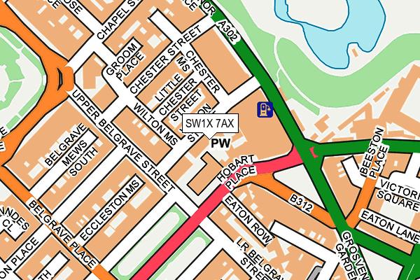 SW1X 7AX map - OS OpenMap – Local (Ordnance Survey)