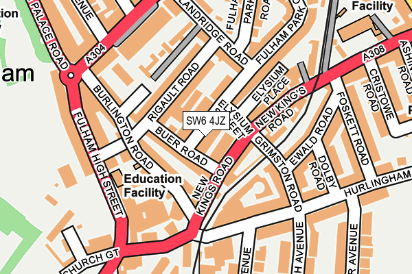 Map of 50 FULHAM PARK GARDENS MANAGEMENT LTD. at local scale