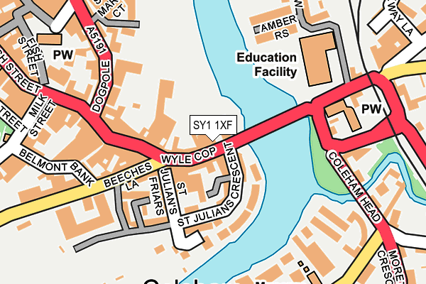 Map of A E C BARON LTD at local scale