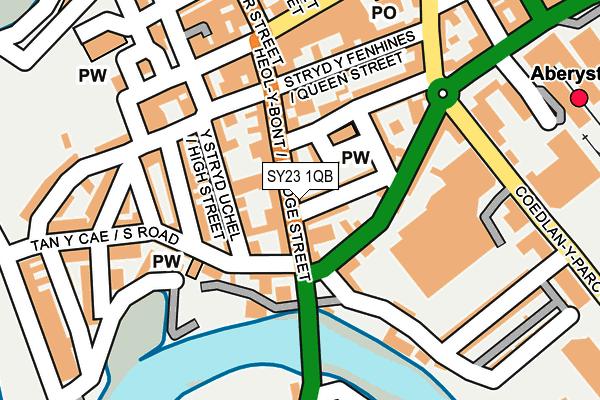 SY23 1QB map - OS OpenMap – Local (Ordnance Survey)