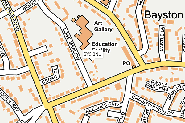 SY3 0NU map - OS OpenMap – Local (Ordnance Survey)