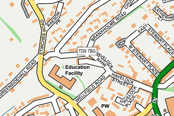 TD9 7BG map - OS OpenMap – Local (Ordnance Survey)