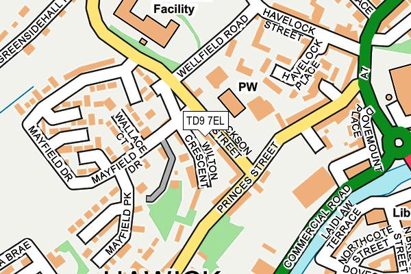 TD9 7EL map - OS OpenMap – Local (Ordnance Survey)