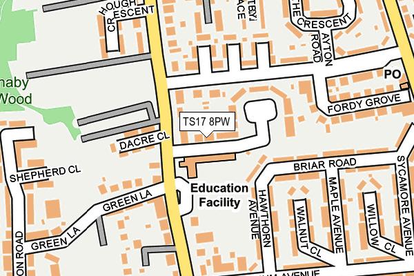 TS17 8PW map - OS OpenMap – Local (Ordnance Survey)
