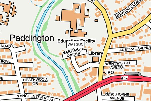 WA1 3UN map - OS OpenMap – Local (Ordnance Survey)