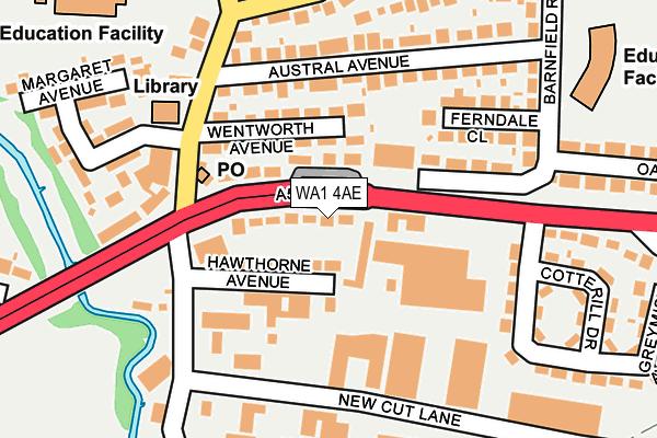 WA1 4AE map - OS OpenMap – Local (Ordnance Survey)