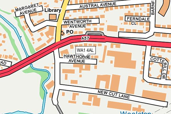 WA1 4AL map - OS OpenMap – Local (Ordnance Survey)