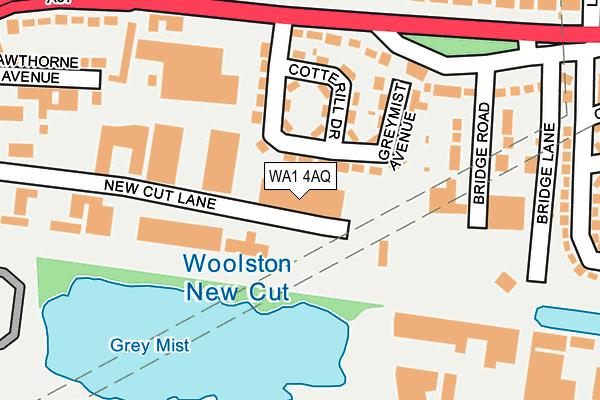 WA1 4AQ map - OS OpenMap – Local (Ordnance Survey)