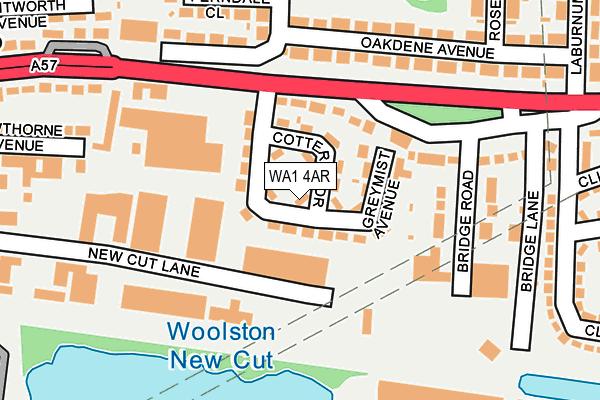 WA1 4AR map - OS OpenMap – Local (Ordnance Survey)