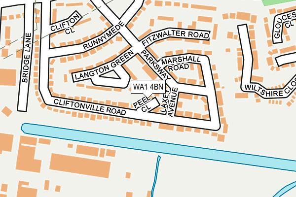 WA1 4BN map - OS OpenMap – Local (Ordnance Survey)