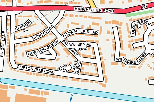 WA1 4BP map - OS OpenMap – Local (Ordnance Survey)