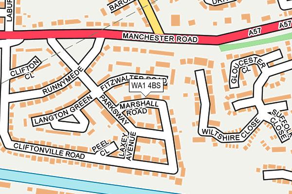 WA1 4BS map - OS OpenMap – Local (Ordnance Survey)