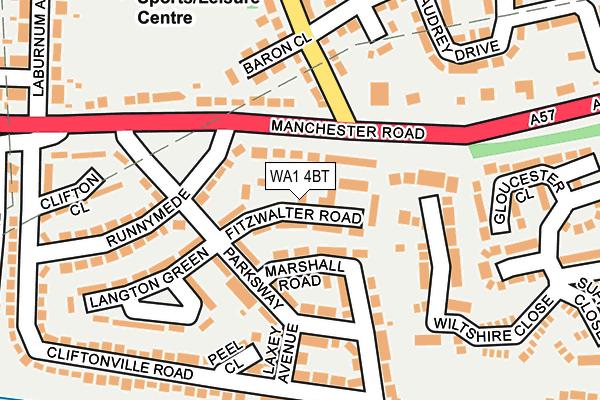 WA1 4BT map - OS OpenMap – Local (Ordnance Survey)
