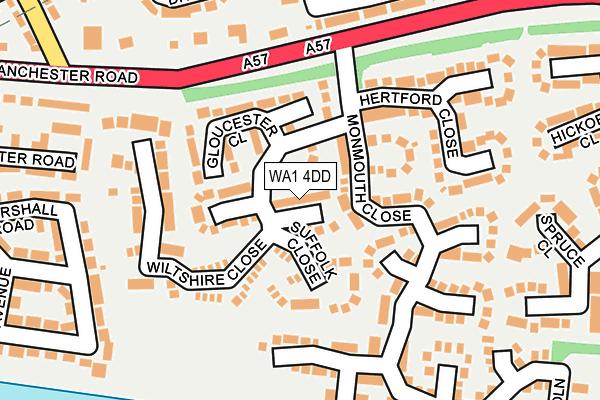 WA1 4DD map - OS OpenMap – Local (Ordnance Survey)