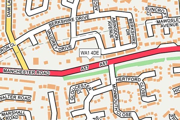 WA1 4DE map - OS OpenMap – Local (Ordnance Survey)