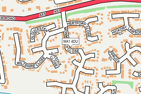 WA1 4DU map - OS OpenMap – Local (Ordnance Survey)