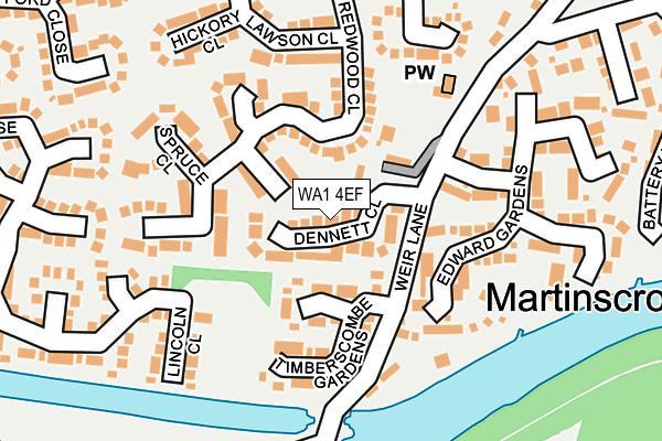 WA1 4EF map - OS OpenMap – Local (Ordnance Survey)