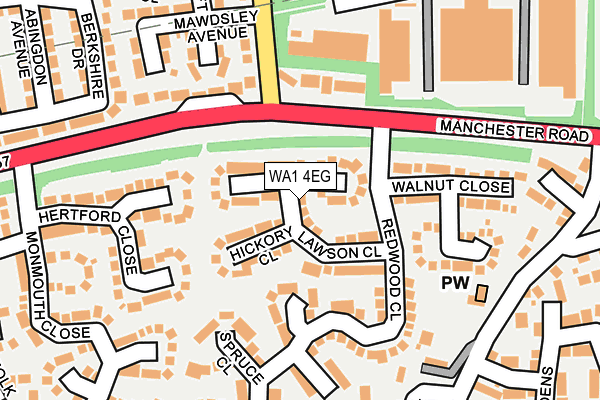 WA1 4EG map - OS OpenMap – Local (Ordnance Survey)
