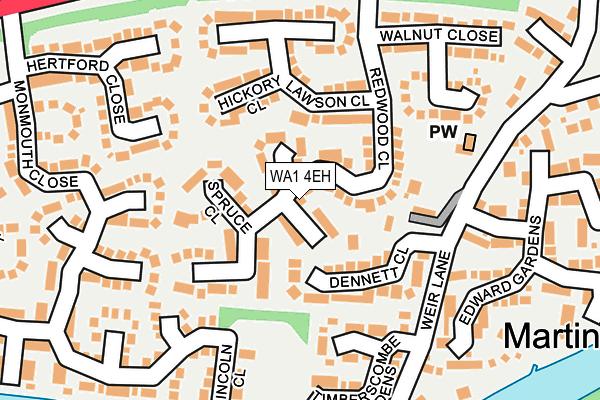 WA1 4EH map - OS OpenMap – Local (Ordnance Survey)