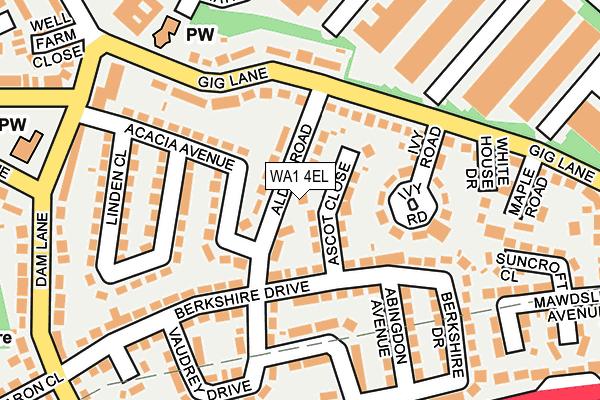 WA1 4EL map - OS OpenMap – Local (Ordnance Survey)