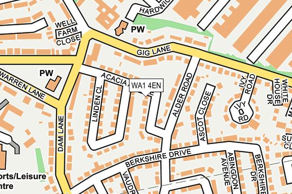 WA1 4EN map - OS OpenMap – Local (Ordnance Survey)