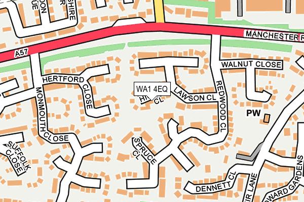 WA1 4EQ map - OS OpenMap – Local (Ordnance Survey)