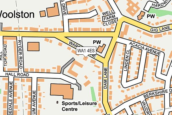 WA1 4ES map - OS OpenMap – Local (Ordnance Survey)