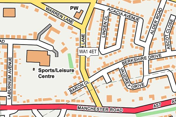 WA1 4ET map - OS OpenMap – Local (Ordnance Survey)